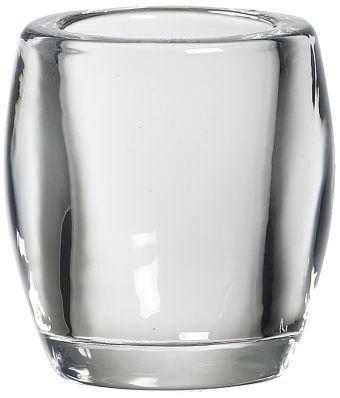 Świecznik szklany do podgrzewaczy 77/72 mm przeźroczysty 6 szt. w opak.