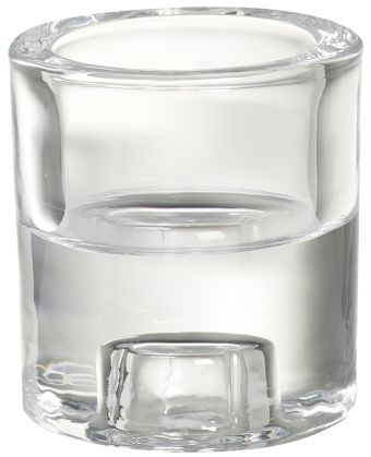 Świecznik szklany 2w1 round 65/60 mm 8 szt. w opak.