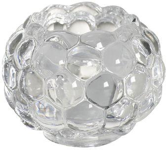 Świecznik szklany 2w1 bubble 60/75 mm 6 szt. w opak.