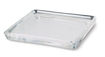 Świecznik szklany kwadratowy 100/100 mm 12 szt. w opak.