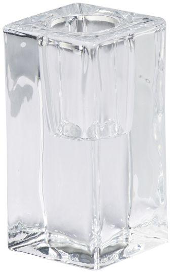 Świecznik kwadratowy do szpic i świec stołowych 80/40 mm przeźroczysty 10 szt. w opak.