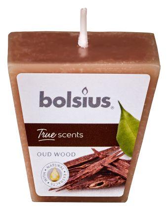 Świeca wkładka zapachowa kwadratowa 47/47 True Scents Drzewo agarowe 24 szt. w op.