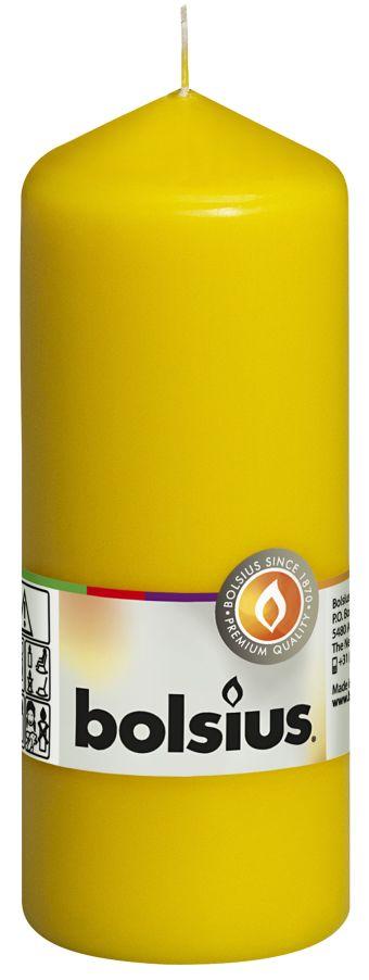 Świeca pieńkowa 150/58 mm żółta 10 szt. w opak.