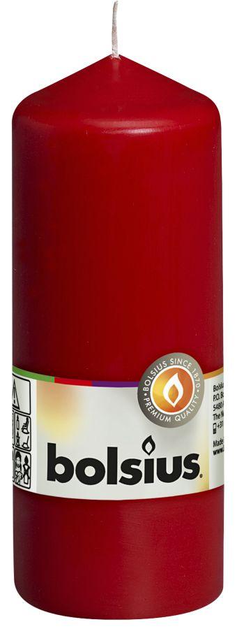 Świeca pieńkowa 150/58 mm czerwona 10 szt. w opak.