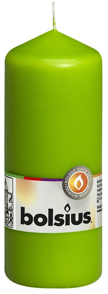 Świeca pieńkowa 150/58 mm jasno zielona 10 szt. w opak.