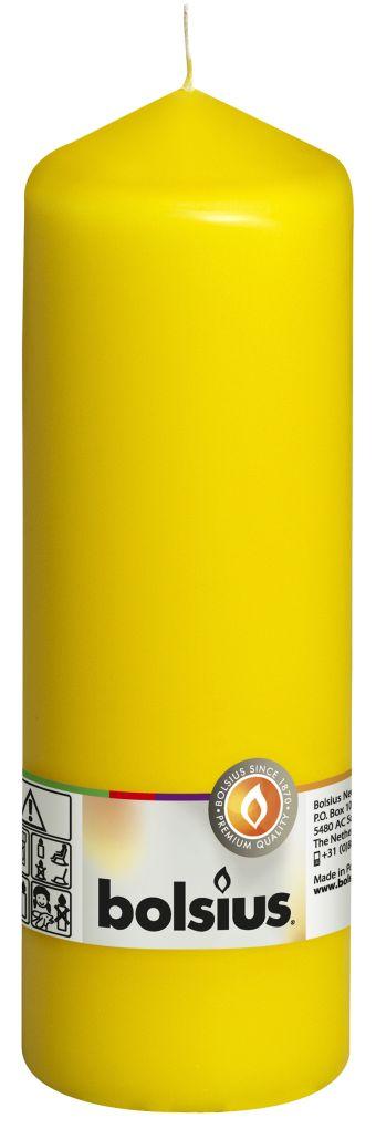 Świeca pieńkowa 200/68 mm żółta 8 szt. w opak.