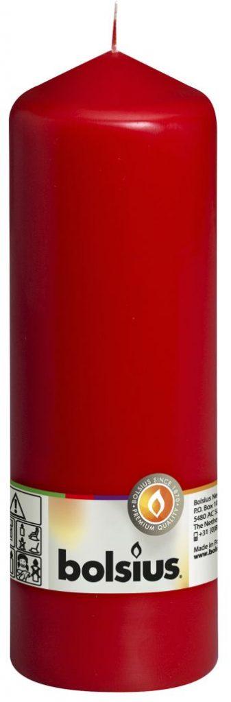 Świeca pieńkowa 200/68 mm czerwona 8 szt. w opak.