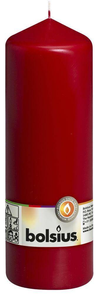 Świeca pieńkowa 200/68 mm bordo 8 szt. w opak.