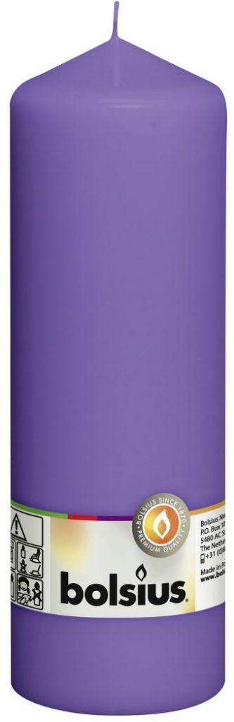 Świeca pieńkowa 200/68 mm fioletowa 8 szt. w opak.