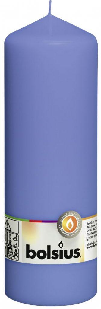 Świeca pieńkowa 200/68 mm chabrowa niebieska 8 szt. w opak.