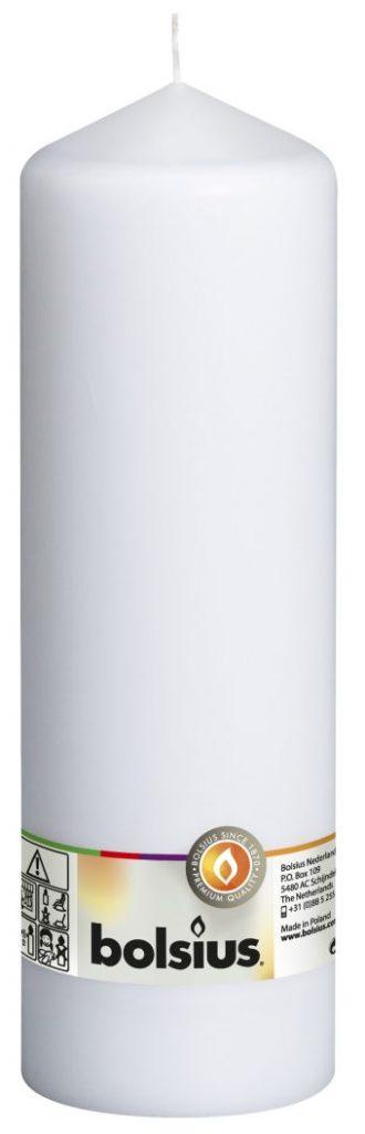Świeca pieńkowa 250/78 mm biała 8 szt. w opak.