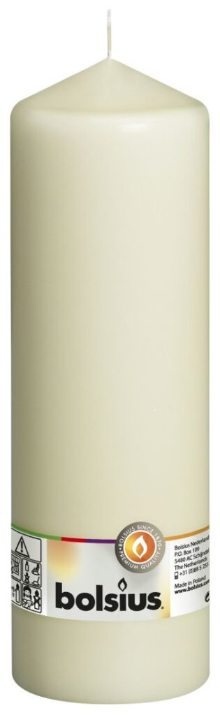 Świeca pieńkowa 250/78 mm kremowa 8 szt. w opak.