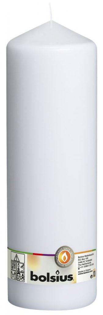 Świeca pieńkowa 300/98 mm biała 4 szt. w opak.