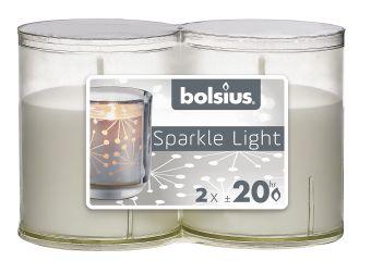 Świece wkłady Sparkle Light 64/52 przeźroczyste 16 szt. w opak.