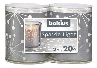 Świece wkłady Sparkle Light 64/52 kryształ 16 szt. w opak.