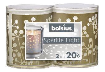 Świece wkłady Sparkle Light 64/52 natura 16 szt. w opak.
