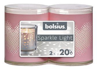 Świece wkłady Sparkle Light 64/52 serce 16 szt.  w opak.