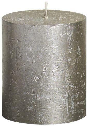 Świeca Pieńkowa Rustic Metal 80/68 mm szampańska 6 szt. w opak.
