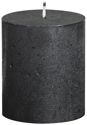 Świeca Pieńkowa Rustic Metal 80/68 mm antracyt 6 szt. w opak.