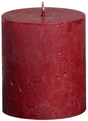 Świece Pieńkowa Rustic Metal 80/68 mm czerwona 6 szt. w opak.