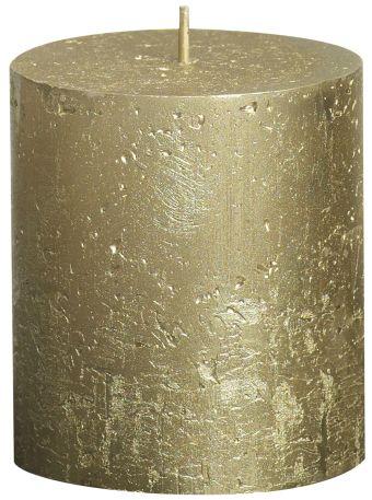 Świeca Pieńkowa Rustic Metal 80/68 mm złota 6 szt. w opak.