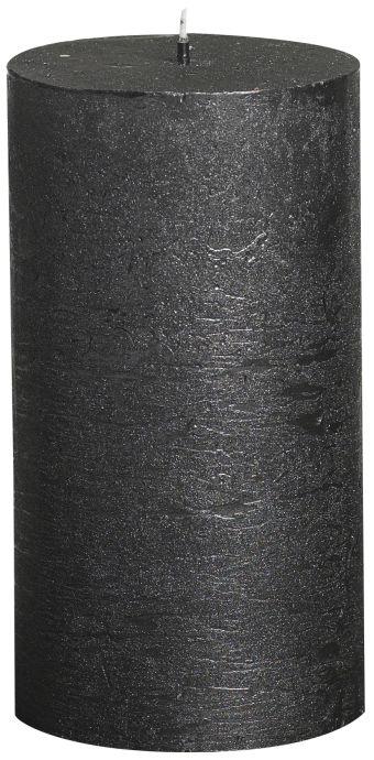 Świeca Pieńkowa Rustic Metal 130/68 mm antracyt 6 szt. w opak.