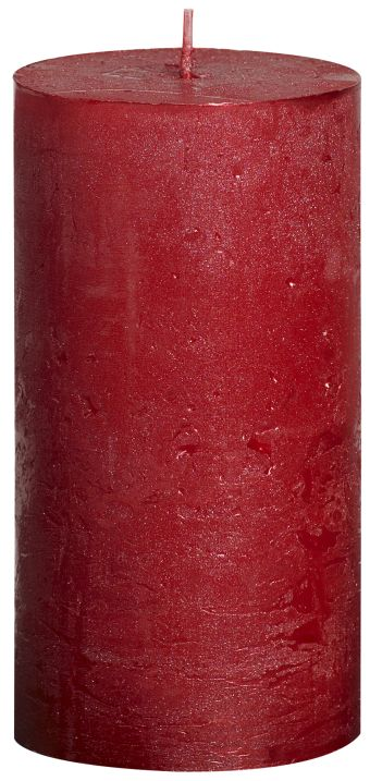 Świeca Pieńkowa Rustic Metal 130/68 mm czerwona 6 szt. w opak.