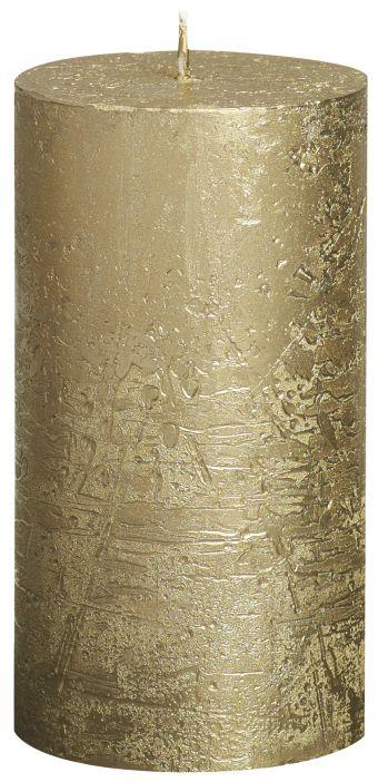 Świeca Pieńkowa Rustic Metal 130/68 mm złota 6 szt. w opak.