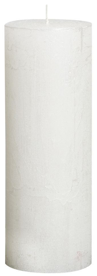 Świeca Pieńkowa Rustic Metal 190/68 mm biała 6 szt. w opak.