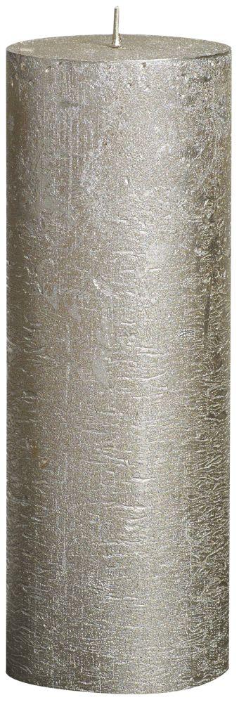 Świeca Pieńkowa Rustic Metal 190/68 mm szampańska 6 szt. w opak.