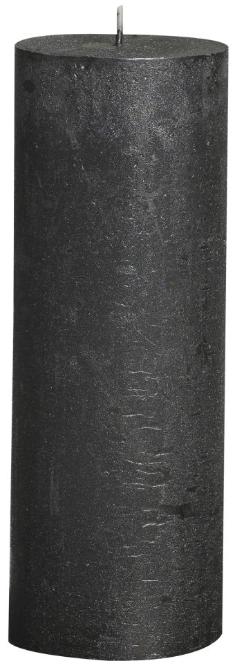 Świeca Pieńkowa Rustic Metal 190/68 mm antracyt 6 szt. w opak.