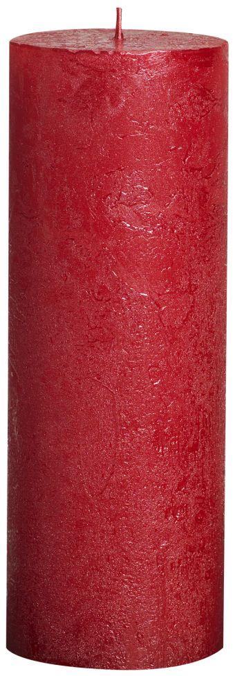 Świeca Pieńkowa Rustic Metal 190/68 mm czerwona 6 szt. w opak.