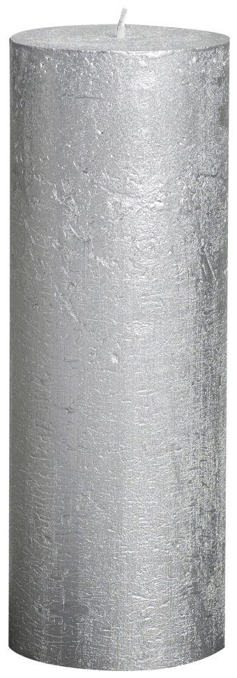 Świeca Pieńkowa Rustic Metal 190/68 mm srebrna 6 szt. w opak.
