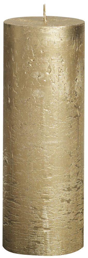 Świeca Pieńkowa Rustic Metal 190/68 mm złota 6 szt. w opak.