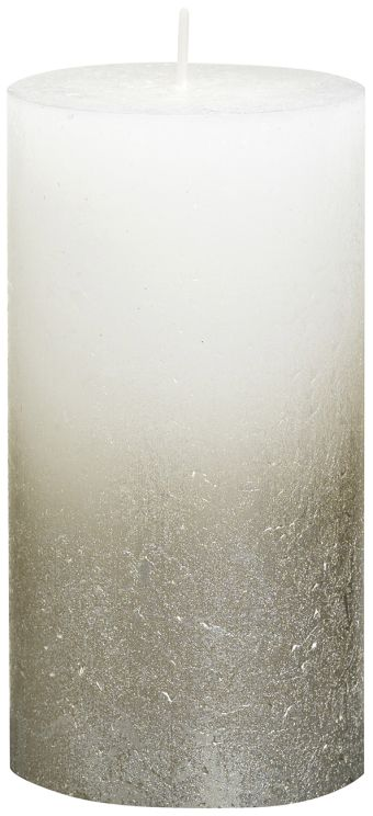 Świeca Pieńkowa Rustic Metal Fading 130/68 mm biała 6 szt. w opak.