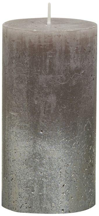 Świeca Pieńkowa Rustic Metal Fading 130/68 mm taupe 6 szt. w opak.