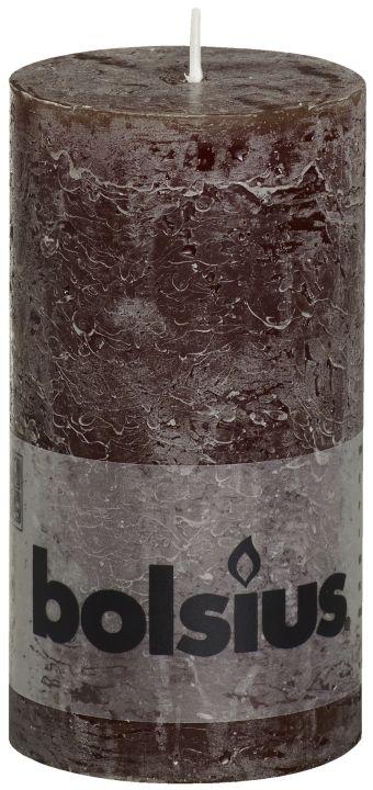 Świeca Pieńkowa Rustic 130/68 mm czekoladowa 6 szt. w opak.