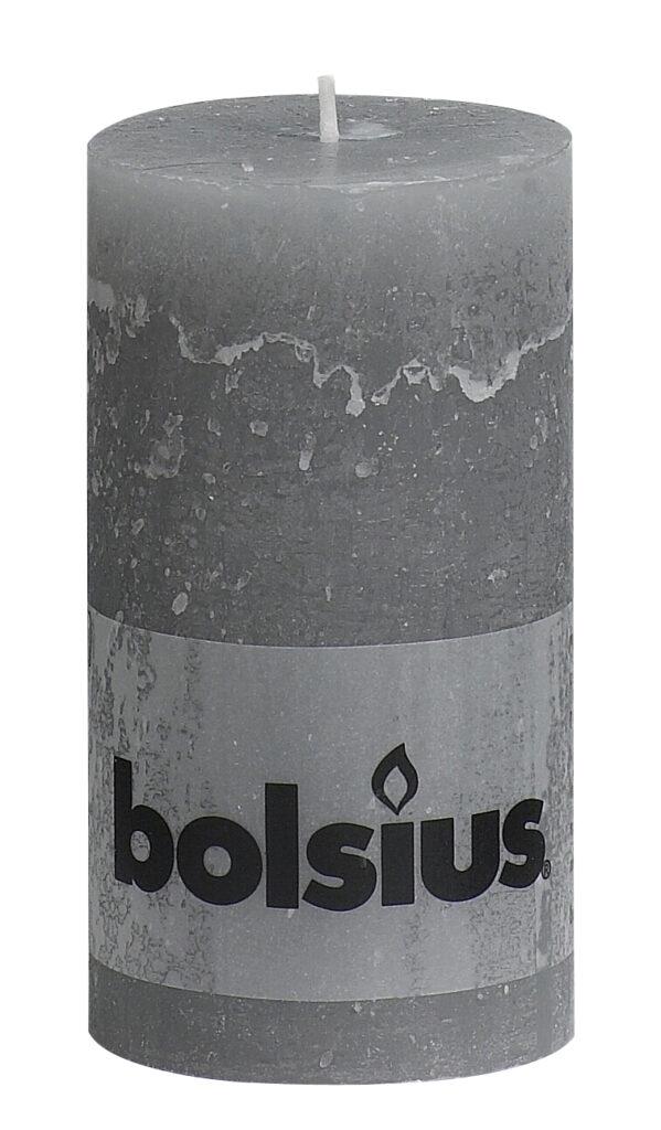 Świeca Pieńkowa Rustic 130/68 mm jasnoszara 6 szt. w opak.