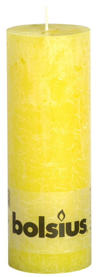 Świeca Pieńkowa Rustic 190/68 mm żółta 6 szt. w opak.