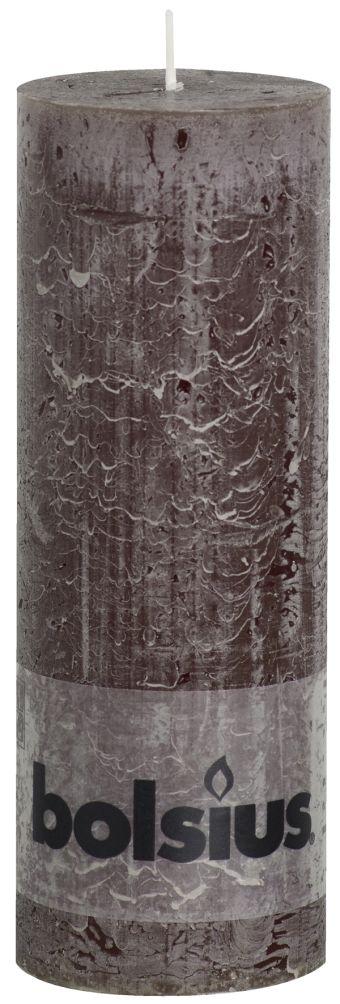 Świeca Pieńkowa Rustic 190/68 mm czekoladowa 6 szt. w opak.