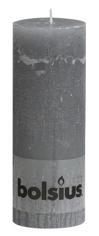 Świeca Pieńkowa Rustic 190/68 mm jasnoszara 6 szt. w opak.