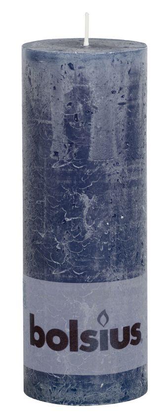 Świeca Pieńkowa Rustic 190/68 mm granatowa 6 szt. w opak.