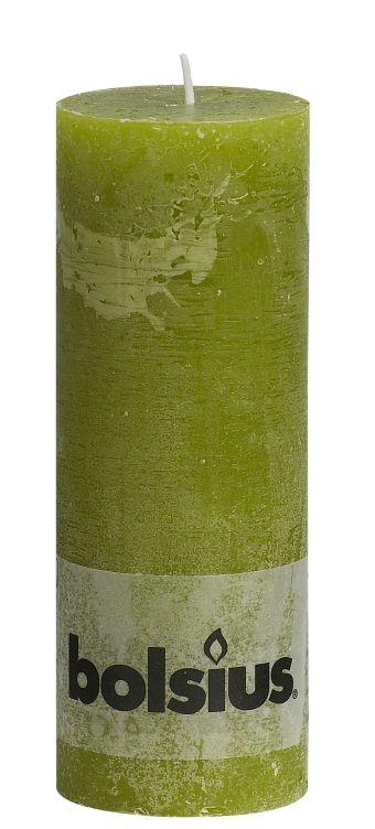 Świeca Pieńkowa Rustic 190/68 mm trzcinowa zieleń 6 szt. w opak.