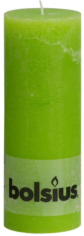 Świeca Pieńkowa Rustic 190/68 mm jasnozielona 6 szt. w opak.