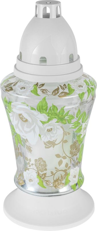 Lampion 3D Białe Róże 6 szt. w opak.