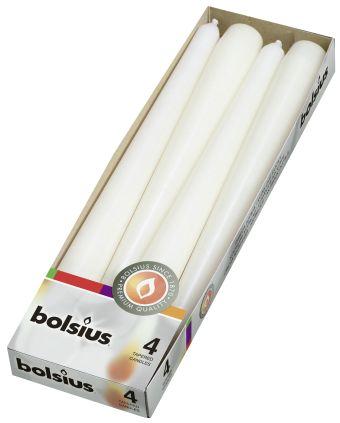 Świeca szpica 245/24 mm  biała </br> 80 szt. w op.