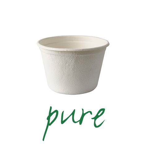 Kubki na zupę z trzciny cukrowej - 350 ml [średnica - 10 cm, wysokość - 6,4 cm], 500 szt w op.