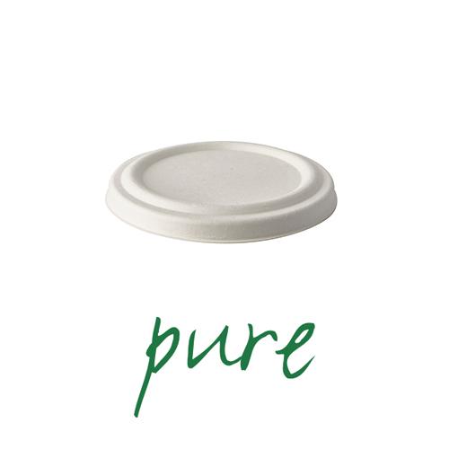 Pokrywki do kubków na zupę z trzciny cukrowej [średnica 10 cm], 400 szt. w op.