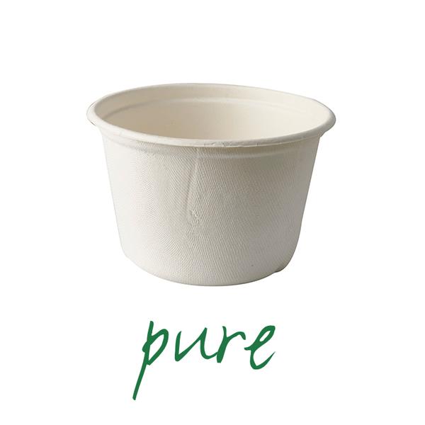 Kubki na zupę z trzciny cukrowej - 600 ml [średnica - 14 cm, wysokość - 9 cm], 500 szt. w op.