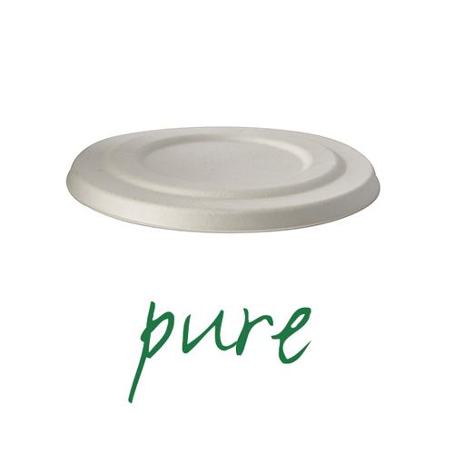 Pokrywki do kubków na zupę z trzciny cukrowej [średnica 14 cm], 400 szt. w op.
